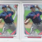Justus Sheffield 1st Prospect Lot of (2) 2014 Bowman Draft #DP27 Indians