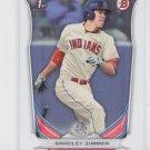 Bradley Zimmer 1st Prospect Trading Card 2014 Bowman Draft DP17 Indians