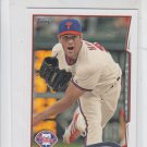 Cole Hamels Trading Card Single 2014 Topps Mini #196 Phillies