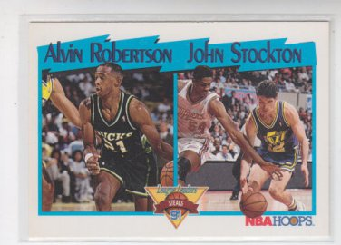 John Stockton Alvin Robertson Trading Card Single 1991-92 Hoops #310