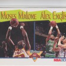 Moses Malone & Alex English Trading Card Single 1991-92 Hoops #315