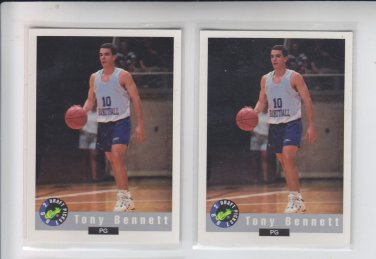 Tony Bennett RC Trading Card Lot of (2) 1992-93 Classic #4