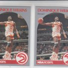 Dominique Wilkins Trading Card Lot of (3) 1990-91 Hoops #36 Hawks