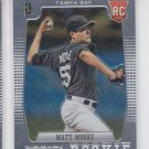 Matt Moore RC Baseball Trading Card 2012 Panini Prizm #156 Rays