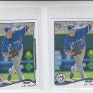 J.A. Happ Trading Card Lot of (2) 2014 Topps Mini #462 Blue Jays