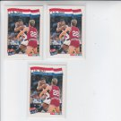J.R Reid USA Trading Card Lot of (3) 1991-92 Hoops #572