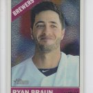 Ryan Braun Chrome Parallel 2015 Topps Heritage #474 Brewers 346/999