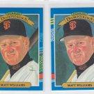 Matt Williams Diamond Kings Trading Card Lot of (2) 1991 Donruss #18 Giants