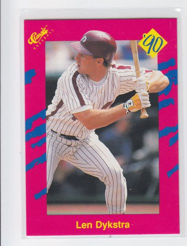 Len Dykstra Trading Card 1990 Classic Update #T18 Phillies