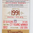 Gaylord Perry Credentials Insert 2012 Panini Cooperstown #19