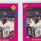 Bo Jackson Trading Card Lot of (2) 1990 Classic Update #T25 Royals