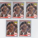 Winston Bennett RC Trading Card Lot of (5) 1990-91 Hoops #70 Cavaliers
