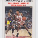 Bulls Route Lakers To Even Series Tribune Trading Card Single 1991-92 Hoops #539