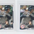 Brian Roberts Trading Card Lot of (2) 2014 Topps Mini #396 Yankees