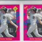 Benito Santiago Trading Card Lot of (2) 1990 Classic Update #T44 Padres