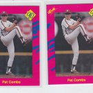 Pat Combs Trading Card Lot of (2) 1990 Classic Update #T12 Phillies