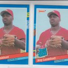 Ray Lankford Rated Rookie Trading Cad Lot of (2) 1991 Donruss #43 Cardinals