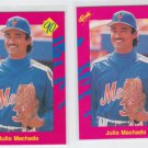 Julio Machado Trading Card Lot of (2) 1990 Classic Update #T31 Mets
