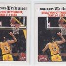 Vlade Divac Ft. Bulls Win OT Thriller Tribune Lot 2 1991-92 Hoops #540