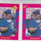 George Brett Trading Card Lot of (2) 1990 Classic Update #T6 Royals