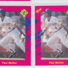 Paul Molitor Trading Card Lot of (2) 1990 Classic Update #T34 Brewers
