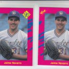 Jaime Navarro Trading Card Lot of (2) 1990 Classic Update #T38 Brewers