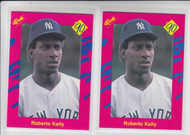 Roberto Kelly Trading Card Lot of (2) 1990 Classic Update #T27 Yankees