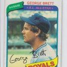 George Brett Baseball Trading Card Single 1980 Topps #450 Royals NM CENTERED