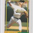 Joe Slusarski Baseball Trading Card 1992 Topps #651 Athletics