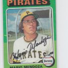Mario Mendoza RC Baseball Trading Card 1975 Topps #457 Pirates *VG *BILL