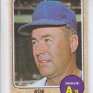 Bob Kennedy MGR Baseball Trading Card 1968 Topps #183 Athletics EX *BILL