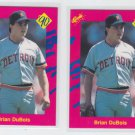 Brian Dubois Trading Card Lot of (2) 1990 Classic Update #T17 Tigers