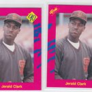 Jerald Clark Trading Card Lot of (2) 1990 Classic Update #T10 Padres