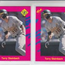 Terry Steinbech Trading Card Lot of (2) 1990 Classic Update #T46 Athletics