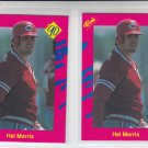 Hal Morris Trading Card Lot of (2) 1990 Classic Update #T35 Yankees