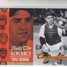 Yogi Berra Field Generals Insert 2012 Panini Cooperstown #2