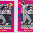 Dale Murphy Trading Card Lot of (2) 1990 Classic Update #T36 Braves