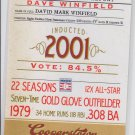 Dave Winfield Credentials Insert 2012 Panini Cooperstown #8