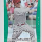 Michael Young Green Refractors Parallel SP 2012 Panini Prizm #119 Phillies