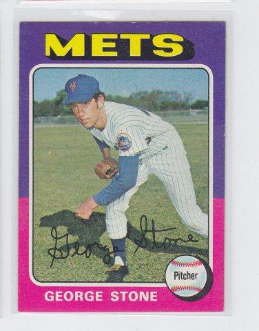 George Stone Baseball Trading Card 1975 Topps #239 Mets *NM *BILL