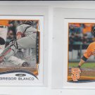 Gregory Blanco Trading Card Lot of (2) 2014 Topps Mini #270 Giants