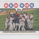 World Series Highlihghts HL Gold Foil Parallel 2008 Topps #234 Red Sox