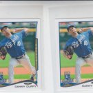 Danny Duffy Trading Card Lot of (2) 2014 Topps Mini 532 Royals