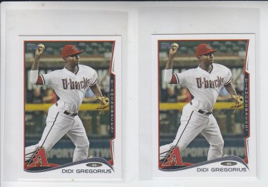 Didi Gregorious Trading Card Lot of (2) 2014 Topps Mini #562 Diamondbacks