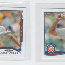 Jose Veras Trading Card Lot of (2) 2014 Topps Mini #533 Cubs