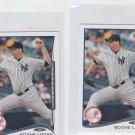 Boone Logan Trading Card Lot of (2) 2014 Topps Mini #137 Yankees