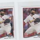 Jason Motte Trading Card Lot of (2) 2014 Topps Mini #599 Cardinals
