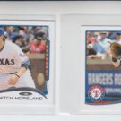 Mitch Mooreland Trading Card Lot of (2) 2014 Topps Mini #94 Rangers