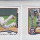 Pedro Florimon Trading Card Lot of (2) 2014 Topps Mini 568 Twins