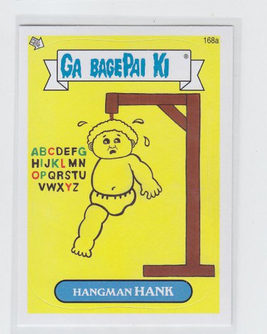 Hangman Hank Sticker 2013 Topps Garbage Pail Kids #168a